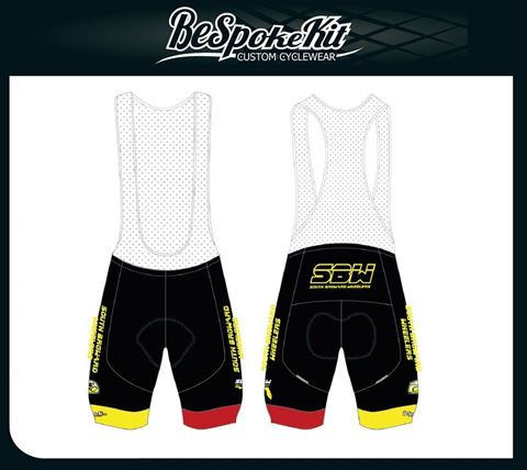 Picture of SBW Mens and Womens Race Fit Bib Shorts