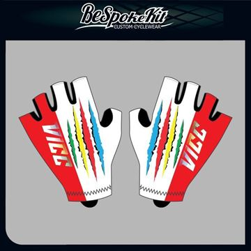Picture of VILLAGE IDIOTS Short Fingered Cycling Gloves